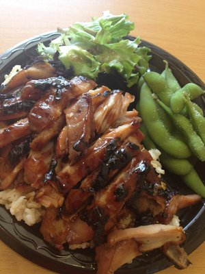 Chicken teriyaki plate.